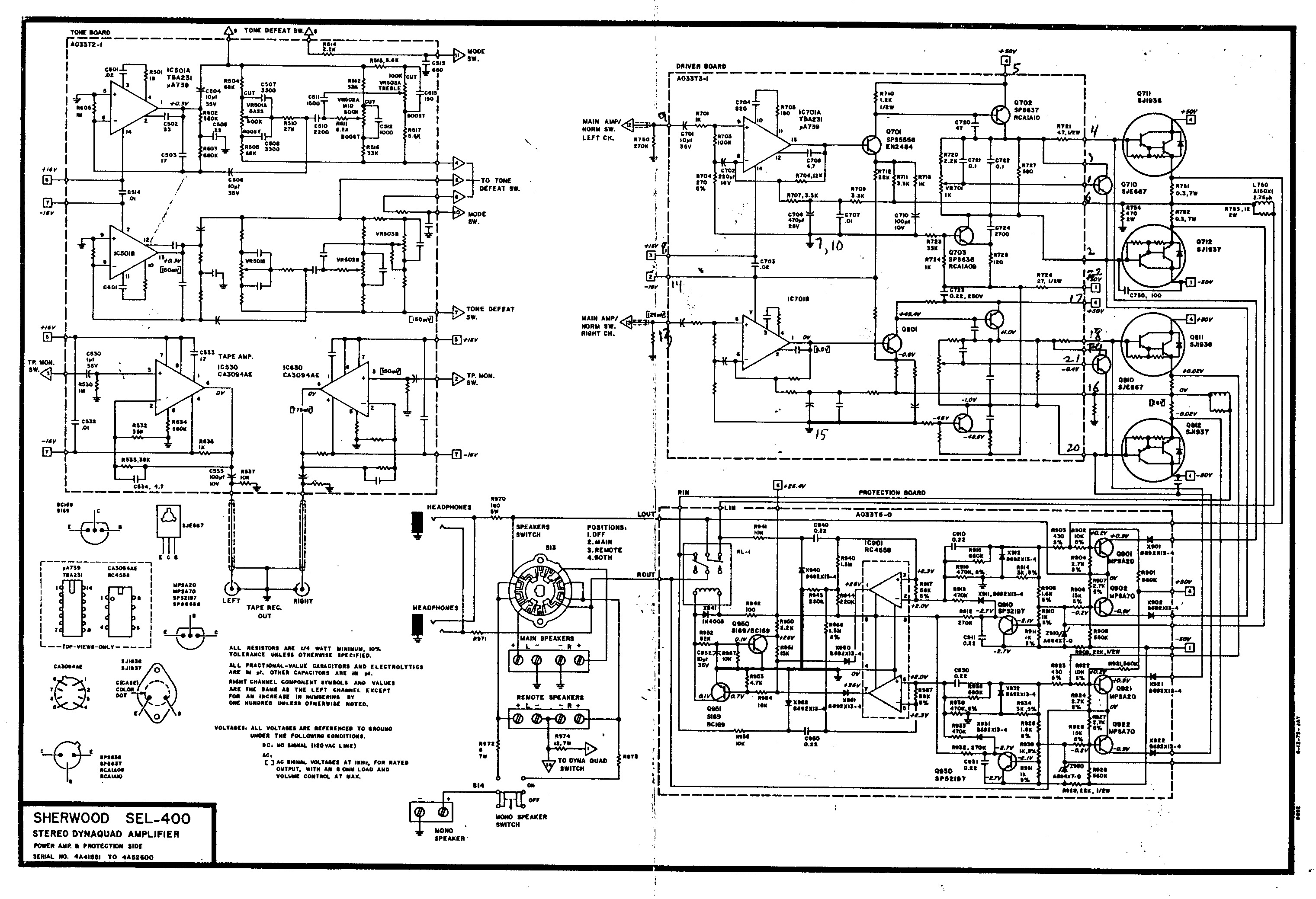 Sherwood SEL 400 Schematic pdf Sherwood SEL 400 Schematic pdf