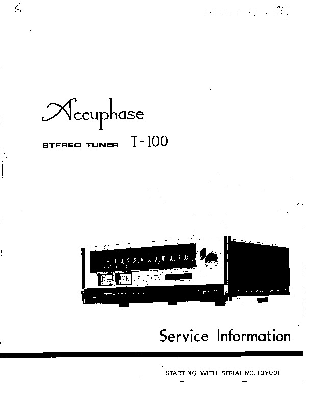 Accuphase T 100 pdf Accuphase T 100 pdf