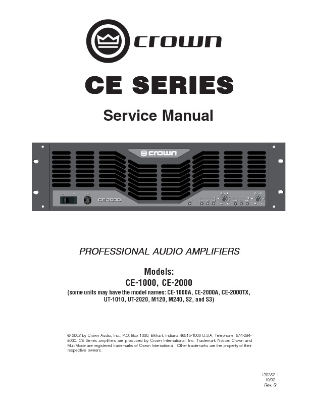 CE series service manual.pdf