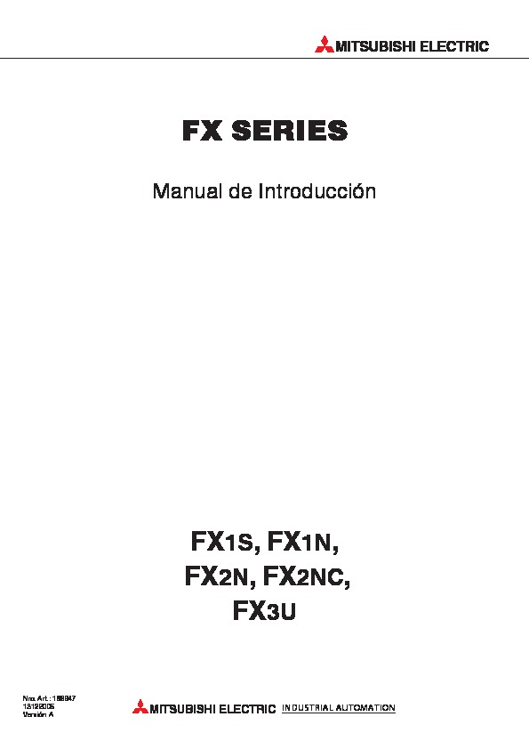 Mitsubishi Manual Introduccion fx pdf Mitsubishi Manual Introduccion fx pdf